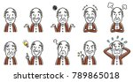 senior male  set  variation | Shutterstock .eps vector #789865018
