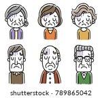 senior men and senior women ... | Shutterstock .eps vector #789865042