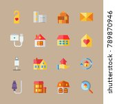 icon set about travel with... | Shutterstock .eps vector #789870946