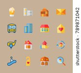 icon set about travel with home ... | Shutterstock .eps vector #789871042