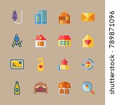 icon set about travel with... | Shutterstock .eps vector #789871096