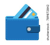 wallet icon with a credit card  ... | Shutterstock .eps vector #789872842