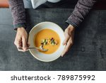 hands of unrecognisable man... | Shutterstock . vector #789875992