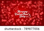 happy valentine's day with love ...   Shutterstock .eps vector #789877006