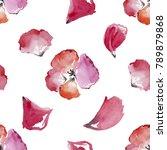 pink rose petals. valentine's... | Shutterstock . vector #789879868