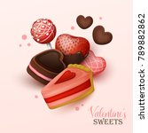 valentine s day background with ...   Shutterstock .eps vector #789882862