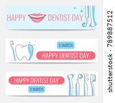 happy dentist day banners   Shutterstock .eps vector #789887512