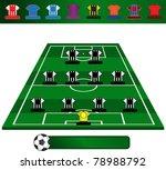 vector illustration of football ... | Shutterstock .eps vector #78988792