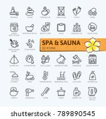 spa and sauna  steam bath  ... | Shutterstock .eps vector #789890545