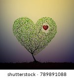 grow love  valentine... | Shutterstock .eps vector #789891088