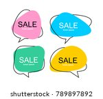 set of vector flat colorful... | Shutterstock .eps vector #789897892