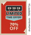 advertise poster with countdown ... | Shutterstock .eps vector #789899716