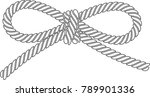 outlined vector rope bow... | Shutterstock .eps vector #789901336