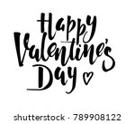 happy valentines day vintage... | Shutterstock .eps vector #789908122