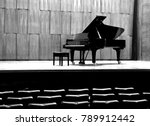 grand piano set on stage  b w | Shutterstock . vector #789912442