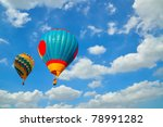 balloon with blue sky over the... | Shutterstock . vector #78991282