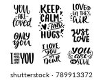 quotes. valentine lettering... | Shutterstock .eps vector #789913372