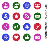 social media icons. white flat... | Shutterstock .eps vector #789914938