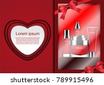 gift set of cosmetic cream with ... | Shutterstock .eps vector #789915496