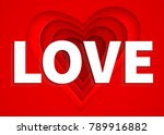 love text on red paper cut... | Shutterstock .eps vector #789916882