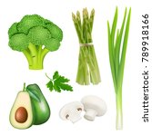 set of realistic vegetables... | Shutterstock .eps vector #789918166