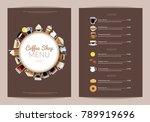 vector coffee shop vertical... | Shutterstock .eps vector #789919696