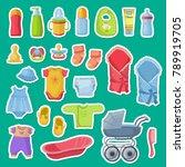 Vector Baby Accessories...