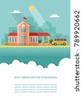 architecture is the bus station ... | Shutterstock .eps vector #789920662