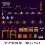 collection of various objects... | Shutterstock .eps vector #789924415