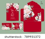 wedding set with invitations... | Shutterstock .eps vector #789931372