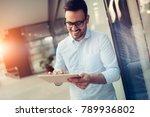 portrait of businessman in... | Shutterstock . vector #789936802