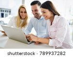 business colleagues working... | Shutterstock . vector #789937282