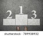 businessman stand at winner... | Shutterstock . vector #789938932