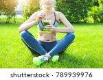 woman drinking herbal tisane...   Shutterstock . vector #789939976