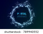abstract portal illustration.... | Shutterstock .eps vector #789940552