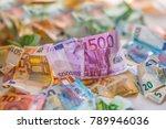 euro money euro banknotes euro... | Shutterstock . vector #789946036