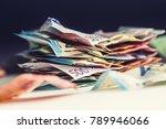 euro money euro banknotes euro... | Shutterstock . vector #789946066