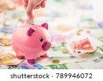 euro money euro banknotes euro... | Shutterstock . vector #789946072