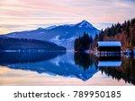 walchensee lake in bavaria  ...   Shutterstock . vector #789950185