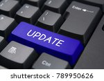 keyboard button with word update | Shutterstock . vector #789950626