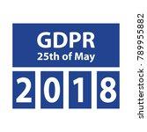 gdpr general data protection... | Shutterstock .eps vector #789955882