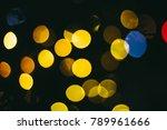 holiday night lights bokeh... | Shutterstock . vector #789961666
