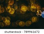 holiday night lights bokeh... | Shutterstock . vector #789961672