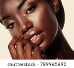 portrait of young african model ... | Shutterstock . vector #789965692