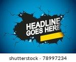 vector of abstract breaking... | Shutterstock .eps vector #78997234