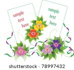 two vector frames with floral... | Shutterstock .eps vector #78997432