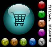 shopping cart icons in color...   Shutterstock .eps vector #789975952