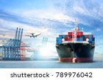 logistics and transportation of ... | Shutterstock . vector #789976042