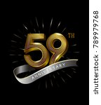 59th anniversary fireworks and... | Shutterstock .eps vector #789979768