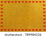 shiny background as valentines... | Shutterstock . vector #789984226